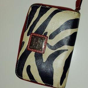 D&B zebra zippered wallet